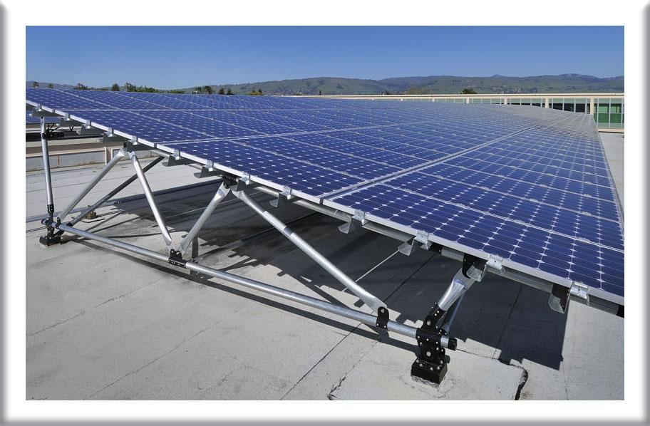 Rak panel surya pembangkit listrik tenaga matahari diindonesia
