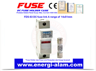 DC FUSE HOLDER CASE 14x51mm / Rumah Sekering PV Solar Panel Surya