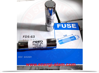 DC FUSE Link 14x51mm 63A /1000VDC Skring Proteksi PV Solar Panel Surya