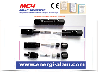 Konektor MC4 Panel Surya / Solar Connector - High Quality 6MM