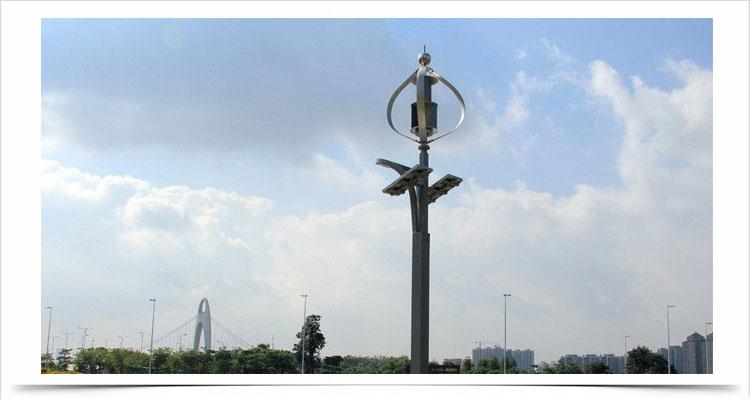 Kincir angin sumbu vertikal teknologi poros levitasi magnetik tsa300w 12v 24v lampu jalan 13