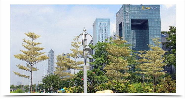 Kincir angin sumbu vertikal teknologi poros levitasi magnetik tsa300w 12v 24v lampu jalan 16