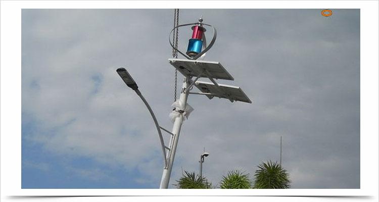Kincir angin sumbu vertikal teknologi poros levitasi magnetik tsa300w 12v 24v lampu jalan 6